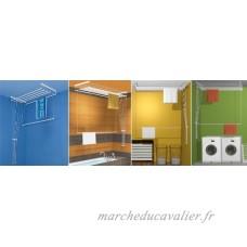 étendoir à linge suspendu au plafond ETEND'MIEUX® 7 barres 59 cm x 90 cm  capacité d'étendage 6m30 - B00IQMQZDA