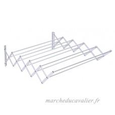 Herby 3041 Séchoir Extensible Mural avec 10 Barres 6 mètres Acier Thermolaqué Blanc - B00LFCCX4I