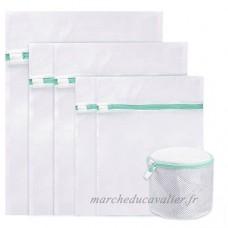 Sacs à linge en maille  Vanble Lot de 6 Durabl Delicates Sacs à linge pour chemisier  bas  sous-vêtements  soutien-gorge et lingerie (petit * 2  moyen * 2  grand * 1  soutien-gorge * 1) - B07718SQQY