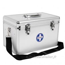 SONGMICS premiers secours portables Médecine Stockage Pill Box Médecine Drug Sangle de transport avec poignée de transport Barres en aluminium ABS Silvery Jbc362s - B01EFQ7KIE