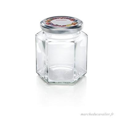 Leifheit 03210 Bocal de Stérilisation à Six Facettes 314 ml Verre Incolore 8.5 x 7.5 x 9.5 cm - B01AWE0D3C