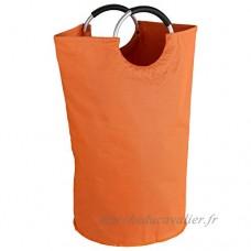 Wenko 3440804100 Panier à Linge JUMBO  Orange  69 Litres  Polyester  Ø: 38 x 72 - B01CSBH3JO