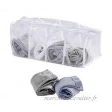 Wenko 63055100 Filet à Linge pour Chaussettes 4 Compartiments Polyester Blanc 17 x 40 x 17 cm - B00YL2WP10