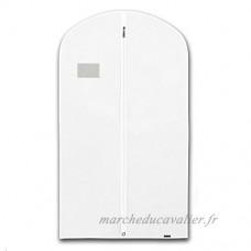 Hangerworld Lot 101 6cm Single respirant Suit Vêtements Manteau Couverture Sac  Blanc - B001UB4S42