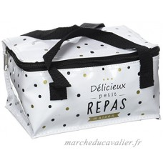 Totally Addict KA2252/WEB Lunch Bag Pois Lunch Bos Pain de Glace PVC + PS Blanc 22 x 15 x 23  70 cm - B06ZY1NFS4