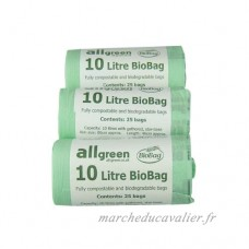 All-Green 10 Litre Biobag Compostable Kitchen Caddy Bin Liners  75 Bags - B0050BYQHM