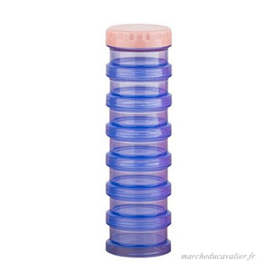 7-Day Pill Stackable Reminder Box Organizer Medicine Storage Container  Blue - B010DIXWYO