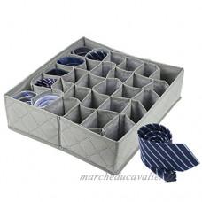 LUVSPOT 30Cell Pliable Chiffon sous-Vêtements organiseurs intercalaire  11L Armoire de Boîtes de Rangement organiseurs Organiseur sous Lit pour Culotte Chaussettes Cravates (Gray) - B07DWVCN5K