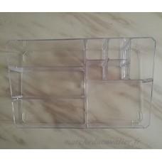 Benbroo Grande contenance Transparent Maquillage de soins de la peau Produit Boîte de rangement avec compartiments Boîte de stockage de bureau - B01M63JZ9B