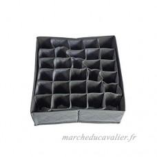 MUANI 30 Grids Charbon de Bambou Cravates Chaussettes Tiroir Closet Organizer Boîte de Rangement Lidless Case - B07DQPYCJL