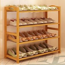 LJHA Porte-chaussures Matériel en bambou Porte-chaussures Famille Chaussures Casier de rangement Multi-couche Porte-chaussures économique simple Meubles à chaussures (taille : 79 * 25 * 68CM) - B07FKPRDMS