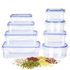Deik Boîte alimentaire  Set de boîte de conservation alimentaire  Conteneur alimentaire plastique avec couvercles hermétiques lot de 16  Compatible avec lave-vaisselle  Congélateur - B0722GPJ1T