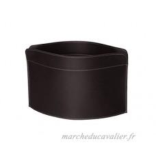 GIUSY: porte-revues en cuir couleur Brun Foncé  porte journaux  sac de rangement  range-revues made in Italy by Limac Design®. - B072J4DH48