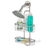 InterDesign Forma Ultra étagère de douche à suspendre  serviteur de douche sans percer en acier inoxydable  argenté - B004W2E116