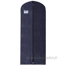 Hangerworld Lot 152 4cm respirant vêtement Robe Coque Interne de sacs avec poche à fermeture éclair  Lot de 5  Bleu marine - B00BRUWOJ2