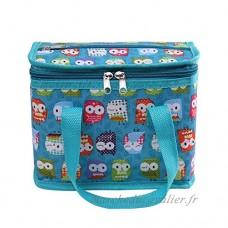 Sac Repas Sac à Déjeuner Isotherme Imperméable Pliable Lunch Bag Organiseur de Voyage Polyester hibou - B072FQPHG1