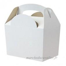 12x Blanc Couleur Unique boîtes repas de fête Jouet Loot boîtes repas cadeau mariage/enfants - B00O8S5SPC
