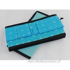 JUNGNE 1 PCS Organiseur Boîte Rangement en Tissu pour Soutien-Gorge Sous-Vêtements Chaussettes Collants Produits Cosmétiques Bleu - B01N4WUQCY