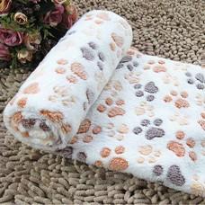 LUFA Doux tiède couverture de polaire pour animaux de compagnie mat pad housse coussin pour chien chat chiot animal Beige Empreinte & S - B076K77XR9