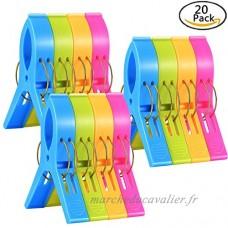 Lot de 20 pcs Grandes Pinces à Linge Clip de Brise-vent  Pince de Nettoyage en Plastique pour Serviettes Quilt Vêtement Couettes Draps Tapis - B07D273CK7