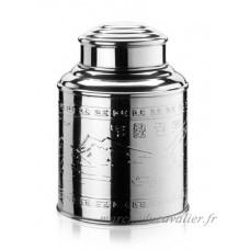 Boîte à thé Teeland en acier inoxydable avec couvercle en forme de dôme et design en relief - B0010T4QIC