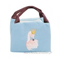 iSuperb Sac Repas Lunch Bag Sac Isotherme Enfant Sac à Déjeune Flamant Insulated Lunch Cooler Sac Fourre-tout Imperméable pour Hommes et Femmes 21*17*15cm (bleu) - B07B6L2Z3C