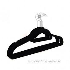 qobobo Lot de 30 cintres en velours Anti-dérapant pour chemises / robes / pantalon / jupe  Noir - B079NZNGD4