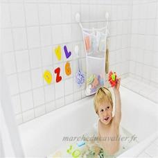 Sac de Rangement Miyare Range-jouets Jouets de Bain avec 2 Ventouses pour Bébé Enfants (Blanc) - B075R8FCLK