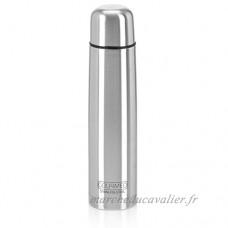 GOURMEO bouteille isolante en acier inoxydable   1 0 l  double paroi  avec fermeture par bouton pression   2 ans de garantie satisfaction   thermos  thermos en inox  bouteille isolante  gourde thermos - B01LXCW0VK