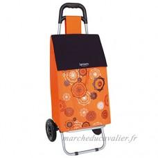 laroom 13657–Chariot de Courses avec Poche Mandala  45litres  Couleur Orange - B01MYRB6IU
