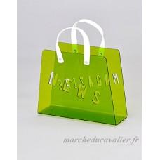 Meubletmoi Porte-Revues Sac Plexiglass Vert - Range-Magazines Design Moderne - Funny Vert - B07DPR6ZF9