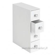 InterDesign Drawers boite-tiroirs  rangement salle de bain en plastique avec 4 tiroirs  boite rangement pour cosmétiques ou accessoires de bureau  blanc - B00LZPDYQG