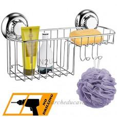 MaxHold système de vide Étagères murales Caddie - acier inoxydable - pour salle de bains et cuisine - B017Y1YWTM