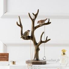 Peint des oiseaux arbre bijoux rack  Bijoux display rack stockage branches américaines ornement-A - B07BJ5PHCM