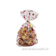 50x Chytaii Sac Sachet Pochette pour Emballage Conservation Alimentaire Etanche Transparent pour Gâteaux Biscuits Bonbons Popcorns en Plastique Décoration de Cadeaux Anniversaire (M) - B0791BPJ5W