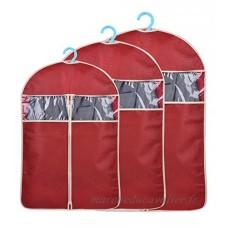 HilltopToCloud 3 Pcs Housse de Protection pour Vêtement Penderie Rangement Sac à Poussière pour Vêtement Manteau/Robe/Costume - B0786YHCXV