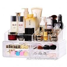 Boîte de rangement cosmétique transparente Grand coffret cosmétique de bijoux en plastique Boîte de finition de bureau en plastique cosmétique multicouche armoires de rouge à lèvres (Édition : B) - B07D6Q57BS