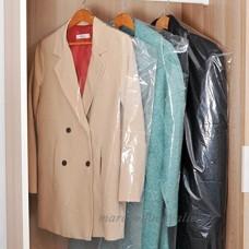 40 plastique transparent Vêtements couvercle anti-poussière suspendu sac de rangement de vêtements de poche - B0777YYSHR