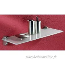 IB-Style - Étagère murale en verre | satiné | 45x15 cm | epaisseur 6 mm | Supports metal inclus Rangement - B008B6PIH0
