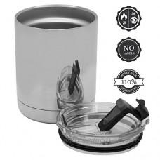 Inox thermo tasse enfant & bebe  adapté pour lave-vaisselle  café & thé 0.3L sans logos. Tasse thermale infantile 300 ml pour nourriture et boisson | Mug isotherme café etanche &  110% garantie de remboursement - B0716HY2Y9