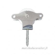 Wolfpack 5121605–Poulie corde à linge inox 40mm Roue métallique avec tirefond  couleur gris - B00MDJQCNK