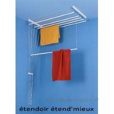 étendoir à linge plafonnier salle de bain  buanderie... ETEND'MIEUX® 7 barres (largeur 59 cm) x 1m60 cm  capacité d'étendage 11m20 - B00JBF8T76