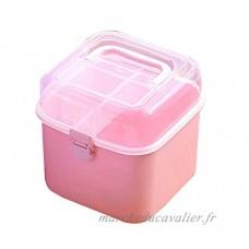 Mini boîte de médecine portable Boîte de cosmétiques Boîte de rangement  rose - B072JJYNJ4